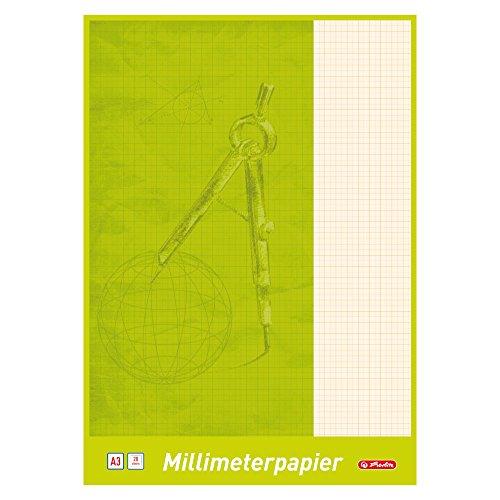 Herlitz 690305- Papel milimetrado A3, 20hojas A3