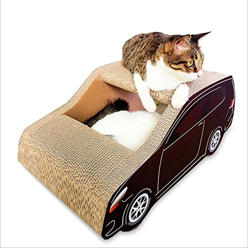 MRXUE Cat Scratch Board SUV Cat Wurf Grüne Papierprodukte Cat Claws Klettergerüst 32 * 28 * 62Cm