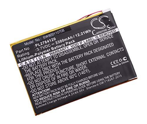 vhbw Li-Polymer Batterie 3300mAh (3.7V) pour Tablette, Netbook Visual Land ME-9Q, Prestige Elite 9Q-9\