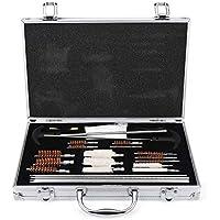 DaMohony Kit Profesional de Herramientas de Limpieza para Limpiadores de Armas de Fuego con Caja de Aluminio. (28 Piezas/Juego)