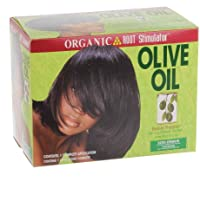 Organico Radice stimolatore olio d' oliva No-Lye capelli Relaxer System Extra Strength