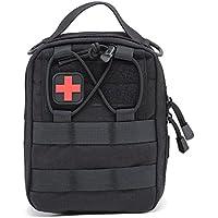 Bloomma Tactical Medical Pouch, Paquete de primeros auxilios,1000D Nylon Outdoor Sports Tactical Medical Bag,5,51×7,87×3,15''