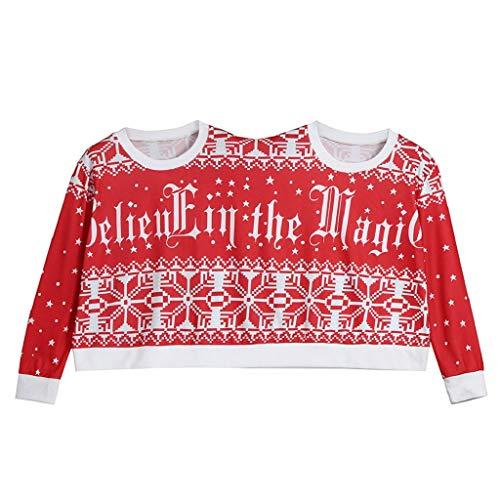 Soupliebe Zwei Personen Pullover Unisex Paare Pullover Neuheit Weihnachten Bluse Top Shirt