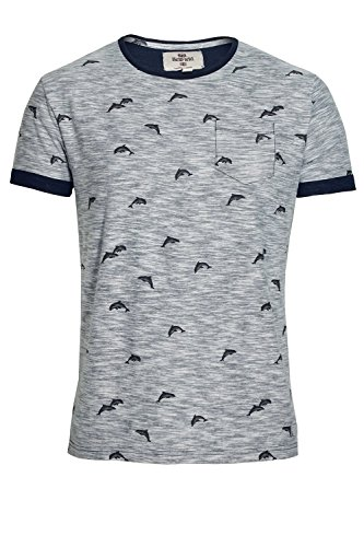 Bellfield Stonewell Dolphin Print Pocket T-Shirt | Navy Small 36' Chest