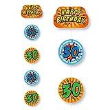 Deckendeko * SUPER ... ICH BIN JETZT 30 * für den 30. Geburtstag von DH-Konzept // Comic Decken Deko Party Set