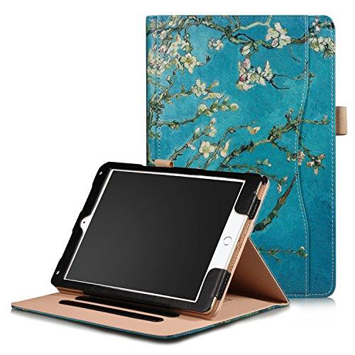 Xuanbeier Schutzhülle Multi - funktions Ständer Schutz Hülle für iPad 9.7 2018/2017/ iPad Air/iPad Air2 mehrere Blickwinkel(Apricot Flower) - Apricot Flower