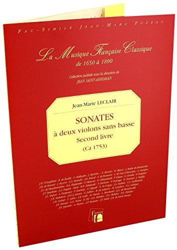 Second livre de sonates à deux violons sans basse