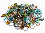 900gr. Glasnuggets transparent, ca.18 - 22 mm bunte Deko Mosaiksteine ca 180St Dekosteine -