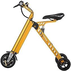 Scooter Eléctrico plegable (metálico), color dorado