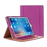 iPad Air Hülle - iPad PU Leder Smart Schutzhülle Cover Case mit Ständer Funktion und Auto-Einschlaf/Aufwach für Apple iPad Air/Neu iPad 9.7 (5th generation) 2017 (lila)