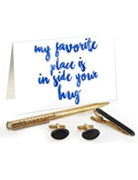 TiedRibbons® Valentine's Day Gifts For Boyfriend Golden Cufflinks,Tiepin And Pen Combo Set With Valentine's Special...