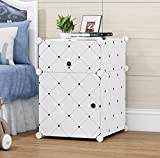 #2: Tied Ribbons collapsible Shelf Storage Cabinet Bedside Table for Newspaper Books Kid's Toys