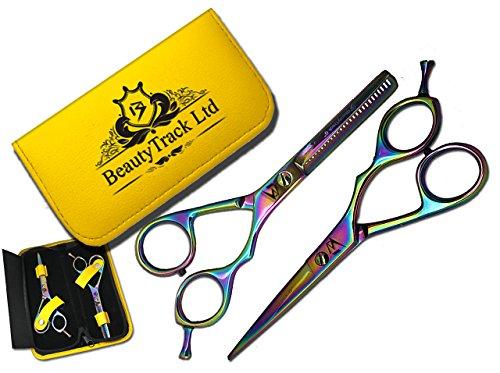 BeautyTrack Ciseaux de coiffeur de salon de coupe de cheveux Barbier Cisailles à effiler 5.5
