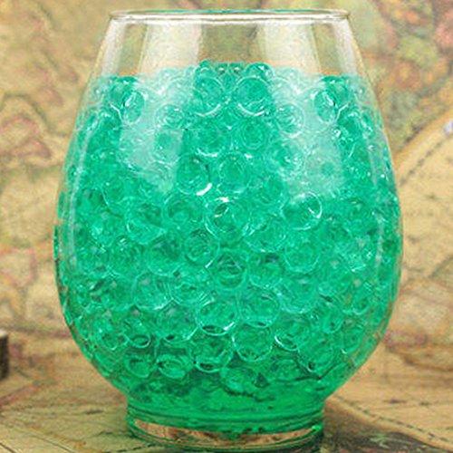 1000 perlas de agua transparentes de cristal para barro, perlas de gel para el suelo, cristal, barro, agua, bolas de gel para niños, jarrones y decoración del hogar, verde, Tamaño libre