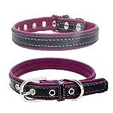 Balock Schuhe Welpen Hundehalsbänder,Einstellbare Schnalle Hund Welpen Hundehalsbänder,Puppy Cat Halskette für Kleine, Mittlere,Hunde,für Mädchen Jungen (Lila, XS)