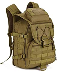 Hung Kai 40L 6 colores camuflaje impermeable y a prueba de golpes fanáticos del ejército mochila táctica