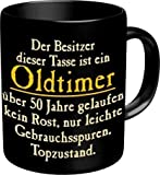 Kaffee Becher - Der Besitzer dieser Tasse ist ein Oldtimer, über 50 Jahre gelaufen, kein Rost, nur leichte Gebrauchsspuren. Topzustand! - Golden Oldies - Coffee Cafe Mug - einzeln im Geschenk Karton
