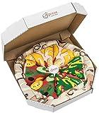 Rainbow Socks - Pizza MIX Italiana Hawaiana Vegetariana Mujer Hombre - 4 pares de Calcetines - Tamaño UE 36-40