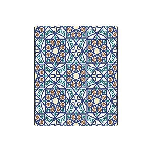 Mesllings Überwurf, Vintage-Stil, arabischer und islamischer Stil, luxuriös, weich, warm, leicht, 127 cm (B) x 152,4 cm (L) Vintage-olive Wood