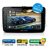 Autoradio Android 8.0 AWS-8800 für VW / Skoda / Seat | GPS Navigation (Europa-Karten) | 8 Zoll | DVD | DAB+ | USB l Octa-Core | 4K Ultra HD Video | WLAN | Bluetooth (iOS u. Android) | MirrorLink | RDS
