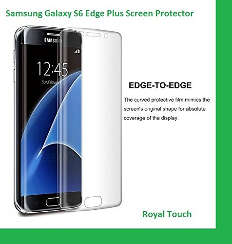 Royal Touch ® Samsung Galaxy S6 edge Plus + TPU Screen Protector HD Ultra Clear Film, It covered in full display area of mobile