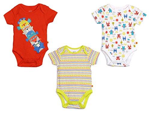 FS Mini Klub Baby Boys' Bodysuits - Pack of 3...
