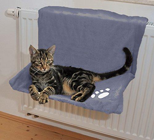Silvio Design Katzenliege, Katzenkuschelbett, Heizkörperliege für Katzenuni, in blau, Maße: ca. 30 x 47 cm