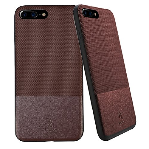 Wkae DZGOGO LUXURY Serie TPU + PC Business Style Lederbekleidung Schlagkombination Schutzhülle für iPhone 7 Plus ( Color : Red ) Brown