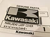 ganz neu 100% Original Kawasaki 'K' Mark Aufkleber schwarz/silber 42mm x 24mm