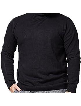 De Gran Tamaño De Los Hombres De Cuello Alto Suéter De Invierno Cálido Suéter Estiramiento Primer Servicio De...