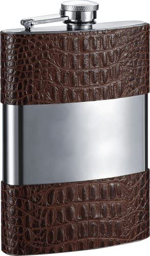 Visol Zarin Leather Leather Zarin Flask, 226,8 Gram, Marronee a17afd