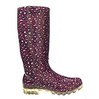 SUPGOD P363 Pink Leopard Print Funky Womens Ladies Girls Wellies Wellie Boots Rain Snow Sizes 3, 4, 5, 6, 6.5 & 7 Bestival, Reading & V Festival *UK SELLER*