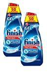 Finish Gel All in One Détergent Lave-Vaisselle 1 L Lot de 2