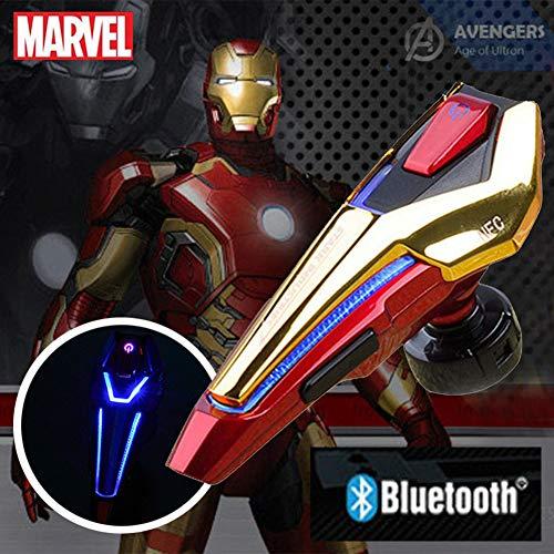 Marvel Kabelloses Bluetooth Headset, Iron Man Captain America Kopfhörer Kann Zwei Geräte gleichzeitig verbinden, Geeignet für alle Geräte mit Bluetooth Funktionen (Iron Man-Gold) (Iron Man-ohrhörer)