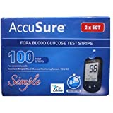 #3: Accusure Simple Test Strips, 100 Strips (Only Strips)