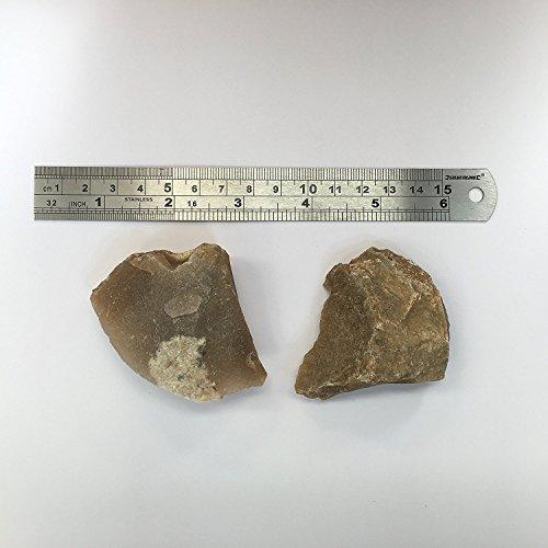 491717762e Konvoysg inglese pietra focaia per uso con una in acciaio al carbonio  Striker Tinder di emergenza viene fornito con un sacchetto di iuta