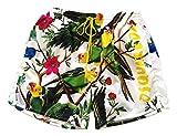 DSQUARED Costume da Bagno Uomo Boxer Corto D7B6G2760.110 Tropical Swim Shorts Bianco 48
