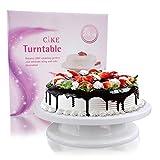 SXG torta piattaforma girevole rotante torta decorazione stand (bianco)