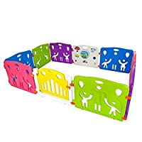 Cannons UK Plastic Baby Den Playpen with Games Station Large Panels (240cm x 160cm)