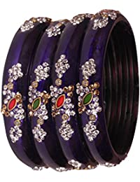 6 Color Beautiful Designer Multicolor Kada Studded With Zircon For Women & Girls On Traditional & Festive Occasion