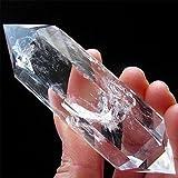 AITELEI Natürlicher weißer Felsen-Quarz-Kristallpunkt Facettierte Prisma-Wand Reiki...
