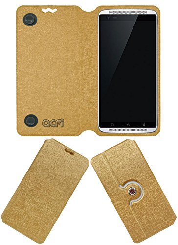 Acm Designer Rotating Flip Flap Case for Lenovo Vibe X3 Mobile Stand Cover Golden