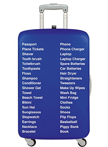 LOQI Erik KESSELS Luggage Cover Medium Koffer, 65 cm, 10 L, Things to Pack -