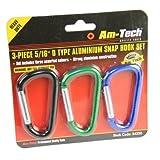 Am-Tech - Juego de ganchos de cierre instantáneo (3 unidades)