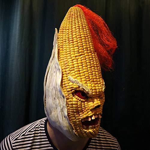 Dodom Wütend Mr Old Corn Kreative Halloween-Maske High-End-Gelb Mais Kopfbedeckungen Halloween-Partydekorationen Halloween-Partyzubehör &&, Gelb