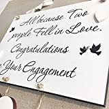 Personalised Engagement Wedding Anniversary Handmade Wooden Plaque Sign Gift W97