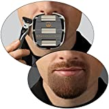 GoateeSaver : The #1 Original Goatee Shaving Template for Men – Fast, Easy & Flawless Goatee Shaving Result – Adjustable Guide to Fit for All Your Needs – Get a Symmetrical, Balanced Goatee Beard with Ease Note: Razor or Trimmer not included