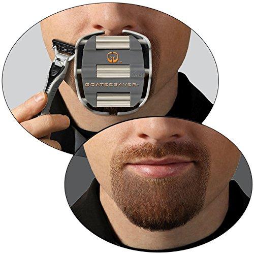 GoateeSaver è una mascherina per la rasatura del pizzetto e della barba in stile Van Dyke