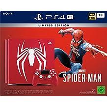 PlayStation 4 Pro - Konsole (1TB)  Limited Edition Marvel's Spider-Man Bundle inkl. 1 DualShock 4 Controller, rot