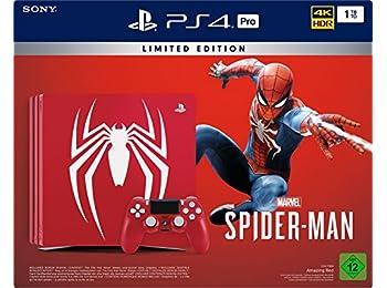 PlayStation 4 Pro - Konsol (1TB) Limited Edition Spider-Man Bundle (1 DualShock 4 Controller)
